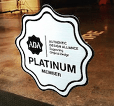 Authentic Design Alliance Platinum member showroom decal