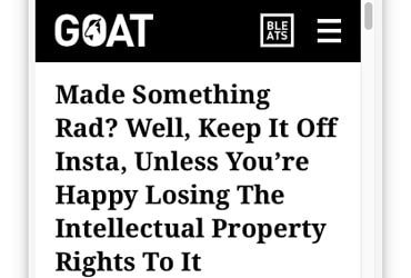 Goat Intellectual Property story on authentic design alliance