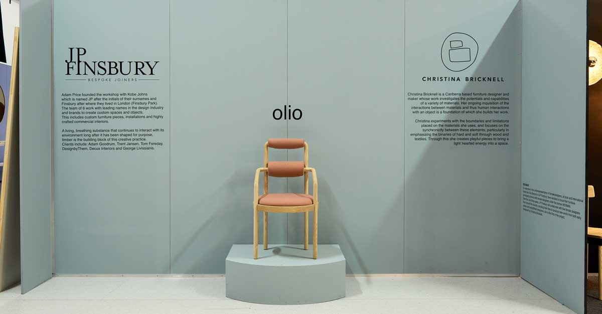 OLIO by Christina Bricknell in collaboration with JP finsbury Bespoke Joinrs