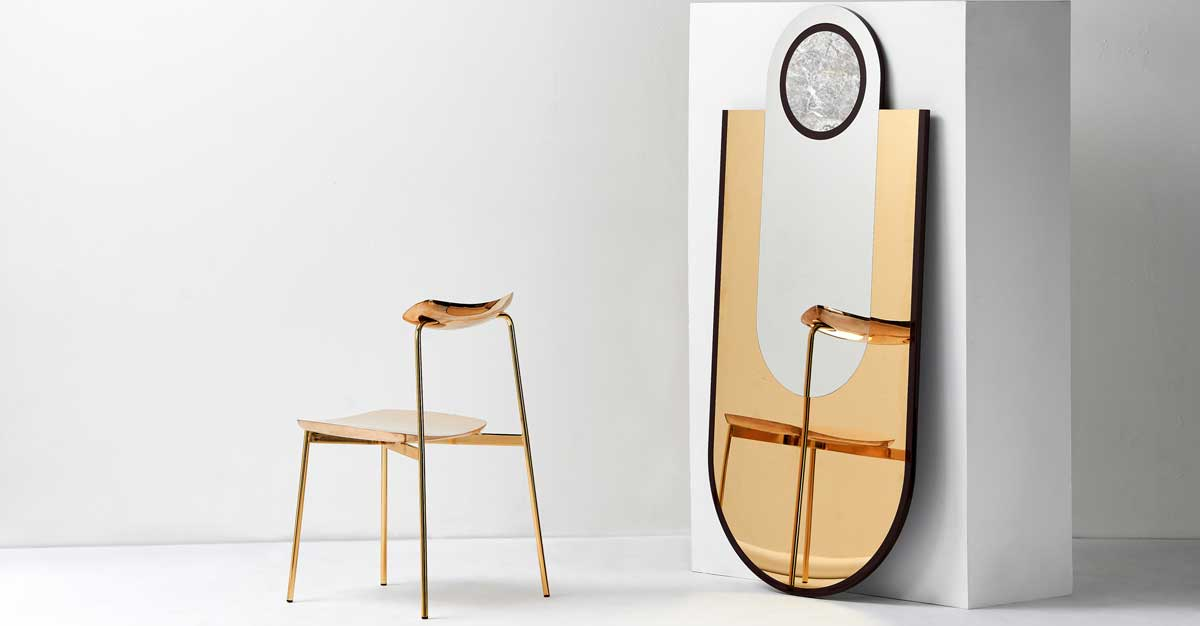 SIA by Tom Fereday for NAU Design, EVERYTHING IS GOLDEN Mirror by Hava Studio