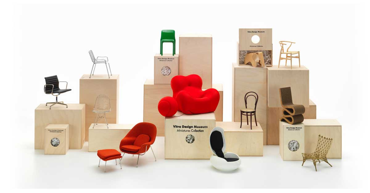 VITRA Miniatures on display at Living Edge through to February 2019