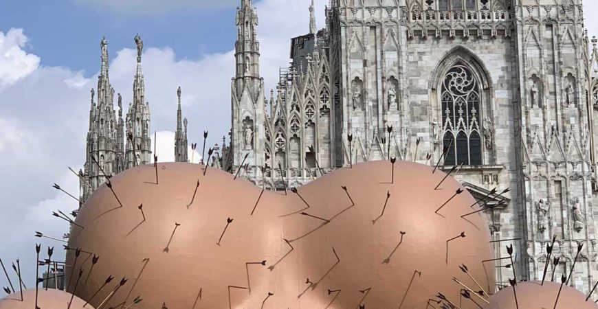 UP installation by Gaetano Pesce in Piazza Duomo