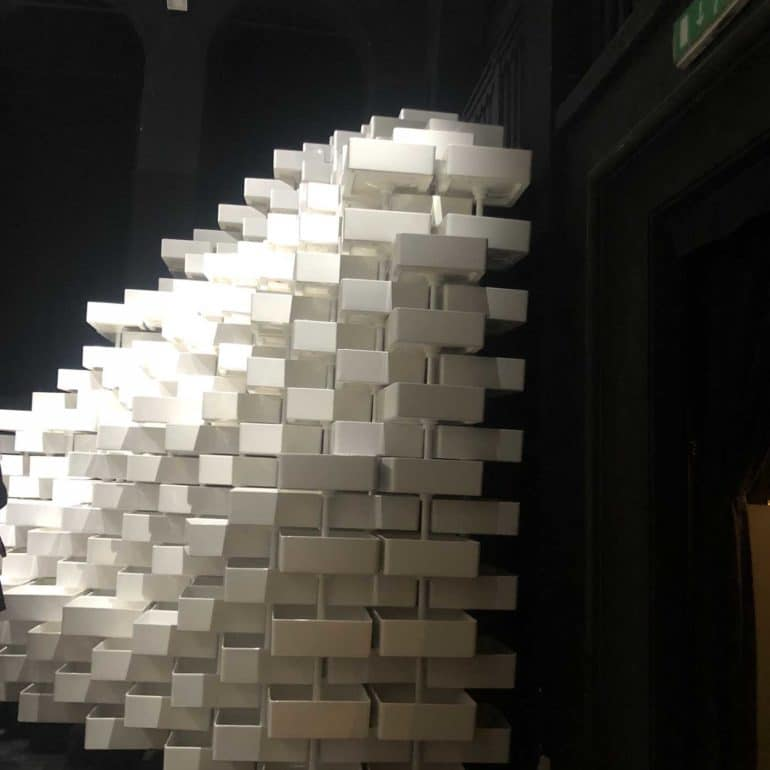 Snarkitecture LAUFEN material message installation
