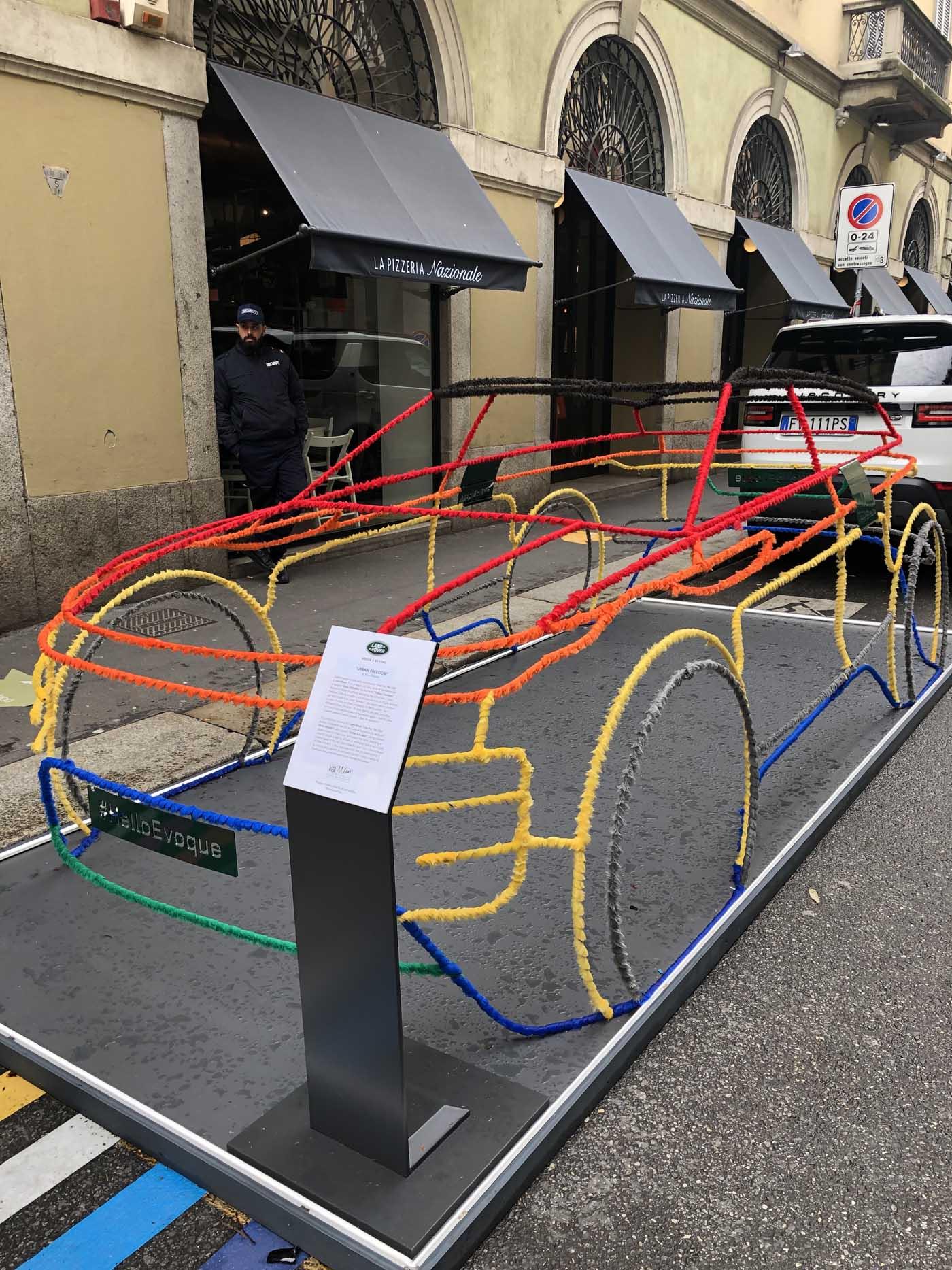 Installation on Via Monte Napoleone
