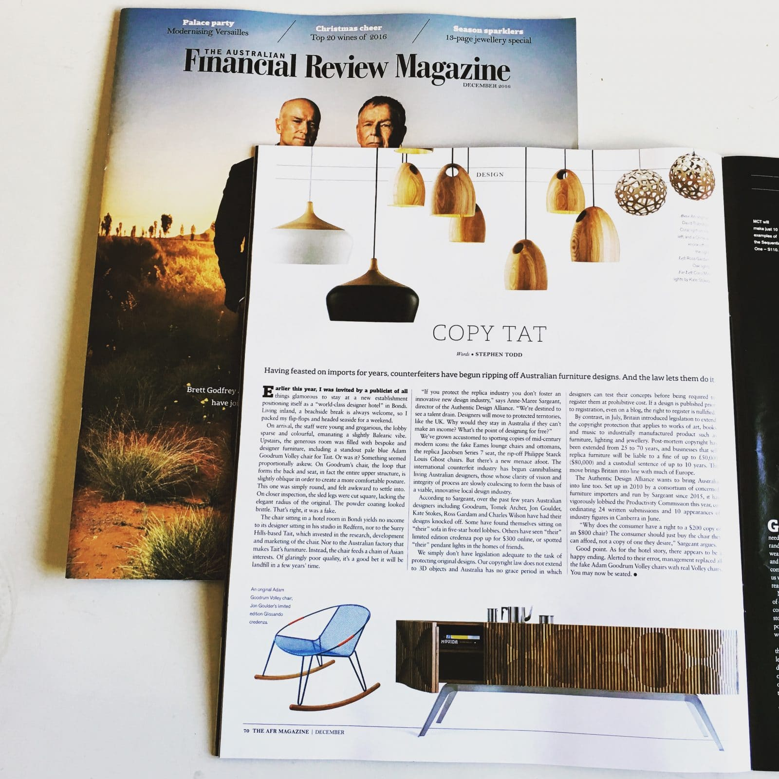 AFR Magazine article by Stephen Todd